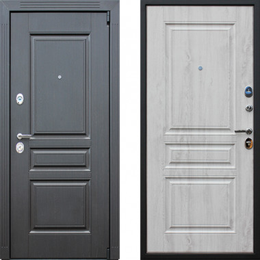 Металлическая дверь АСД Гермес Беленый дуб