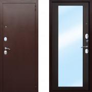 Металлическая входная дверь с зеркалом Атлант Царское Зеркало Макси Венге