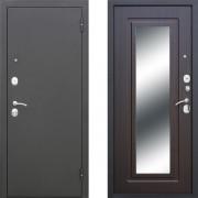 Металлическая входная дверь Атлант с зеркалом Венге
