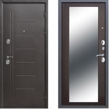 Входная металлическая дверь с зеркалом Атлант Зеркало Макси Венге
