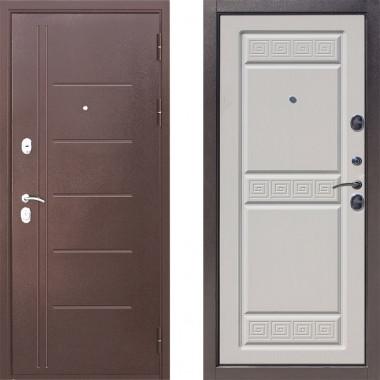 Металлическая дверь Атлант Троя Беленый Дуб