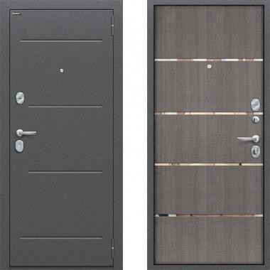 Входная металлическая дверь Оптим Лайн Грей