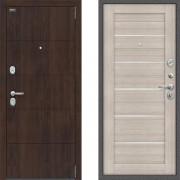 Металлическая входная дверь Bravo оптим прайм Капучино