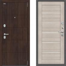 Металлическая входная дверь Bravo оптим прайм Капучино двери с шумоизоляцией