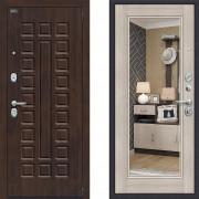 Металлическая дверь Bravo оптим урбан Капучино с зеркалом