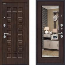 Входная металлическая дверь Bravo оптим урбан Венге с зеркалом