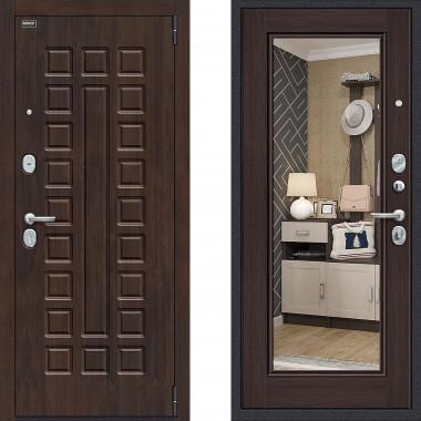 Металлическая входная дверь Bravo оптим урбан с зеркалом Венге