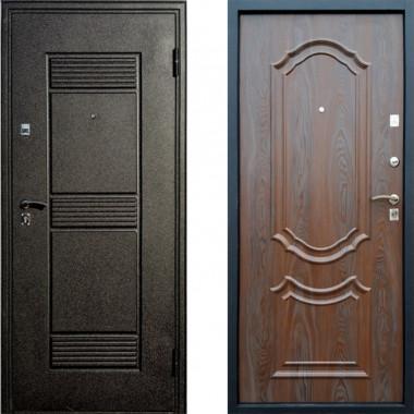 Входная металлическая дверь Атлант Венеция Венге Патина