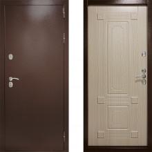 Входная дверь с терморазрывом Дверной Континент Термаль Ультра Беленый Дуб