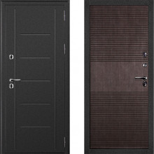 Входная металлическая термо дверь с терморазрывом Дверной Континент Термаль Венге