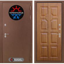 Входная металлическая дверь с терморазрывом Лабиринт Термо Магнит 17 Золотой дуб