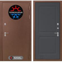 Уличная входная дверь с терморазрывом Лабиринт Термо Магнит 11 Графит софт