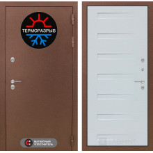 Входная металлическая дверь с терморазрывом Лабиринт Термо Магнит 14 Дуб кантри белый горизонтальный
