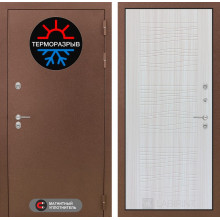 Уличная дверь Лабиринт Термо Магнит 6 Сандал белый