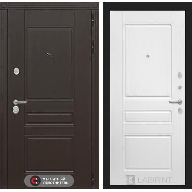 Входная металлическая дверь Лабиринт Мегаполис 3 Белый софт
