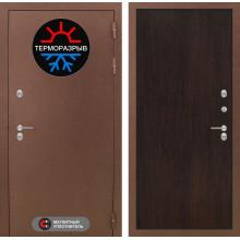 Уличная входная дверь с терморазрывом Лабиринт Термо Магнит 5 Венге