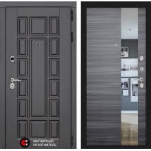 Входная металлическая дверь Лабиринт Нью-Йорк с Зеркалом Сандал серый горизонтальный
