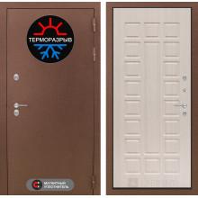 Уличная входная дверь с терморазрывом Лабиринт Термо Магнит 4 Беленый дуб