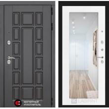 Входная металлическая дверь Лабиринт NEW YORK с Зеркалом 18 Белое дерево