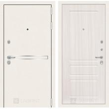 Входная металлическая дверь Лабиринт Лайн WHITE 3 Сандал белый