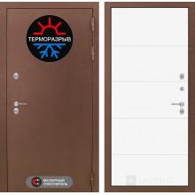 Уличная входная дверь с терморазрывом Лабиринт Термо Магнит 13 Белый софт