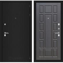Входная металлическая дверь Лабиринт CLASSIC шагрень черная 12 Венге