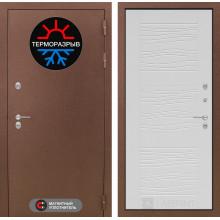 Уличная входная дверь с терморазрывом Лабиринт Термо Магнит 6 Белое дерево