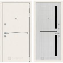 Входная металлическая дверь Лабиринт Лайн WHITE 02 Сандал белый