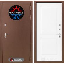 Уличная входная дверь с терморазрывом Лабиринт Термо Магнит 11 Белый софт