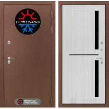 Входная металлическая дверь Лабиринт Термо Магнит 02 Сандал белый