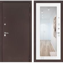 Входная металлическая дверь Лабиринт CLASSIC антик медный с Зеркалом 18 Белое дерево
