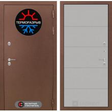 Уличная входная дверь с терморазрывом Лабиринт Термо Магнит 13 Грей софт
