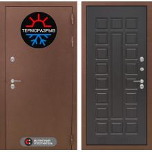 Уличная входная дверь с терморазрывом Лабиринт Термо Магнит 4 Венге