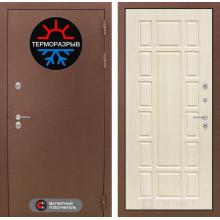 Уличная входная дверь с терморазрывом  Лабиринт Термо Магнит 12 Беленый дуб