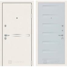 Входная металлическая дверь Лабиринт Лайн WHITE 14 Дуб кантри белый горизонтальный