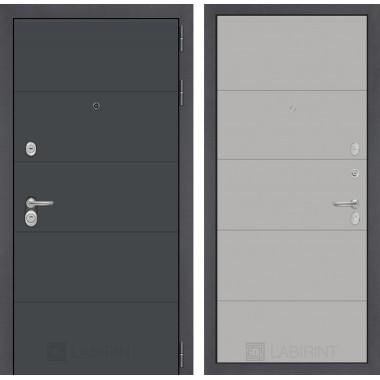 Входная металлическая дверь Лабиринт ART графит 13 Грей софт