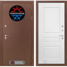 Уличная входная дверь с терморазрывом Лабиринт Термо Магнит 3 Белый софт