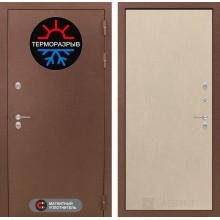 Уличная входная дверь с терморазрывом Лабиринт Термо Магнит 5 Венге светлый