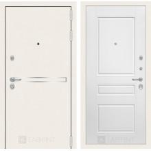Входная металлическая дверь Лабиринт Лайн WHITE 3 Белый софт
