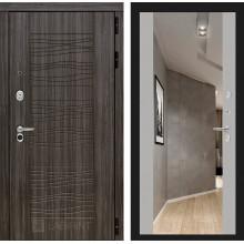 Входная металлическая дверь Лабиринт SCANDI Дарк грей с Зеркалом Максимум Софт Грей