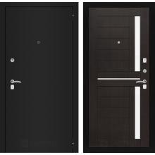 Входная металлическая дверь Лабиринт CLASSIC шагрень черная 2 Венге