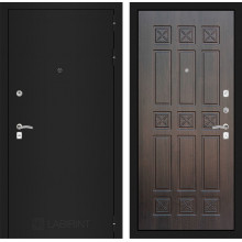 Входная металлическая дверь Лабиринт CLASSIC шагрень черная 16 Алмон 28