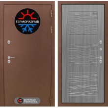 Входная металлическая дверь с терморазрывом Лабиринт Термо Магнит 6 Сандал серый