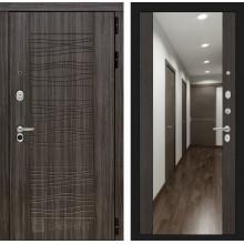 Входная металлическая дверь Лабиринт SCANDI Дарк грей с Зеркалом Максимум Венге