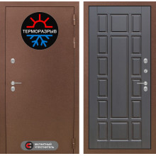 Уличная входная дверь с терморазрывом Лабиринт Термо Магнит 12 Венге
