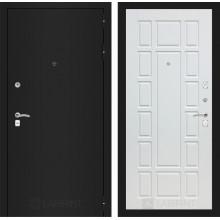 Входная металлическая дверь Лабиринт CLASSIC шагрень черная 12 Белое дерево