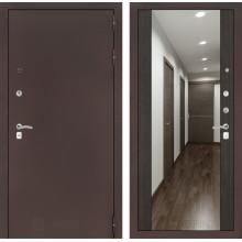 Входная металлическая дверь Лабиринт CLASSIC антик медный с Зеркалом Максимум Венге