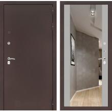 Входная металлическая дверь Лабиринт CLASSIC антик медный с Зеркалом Максимум Софт Грей