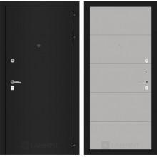 Входная металлическая дверь Лабиринт CLASSIC шагрень черная 13 Грей софт