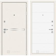 Входная металлическая дверь Лабиринт Лайн WHITE 13 Белый софт